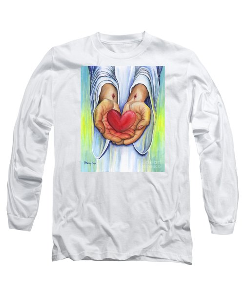 Heart's Desire Long Sleeve T-Shirt by Nancy Cupp