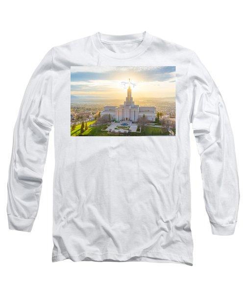 Heavenly Glow Long Sleeve T-Shirt by Dustin  LeFevre