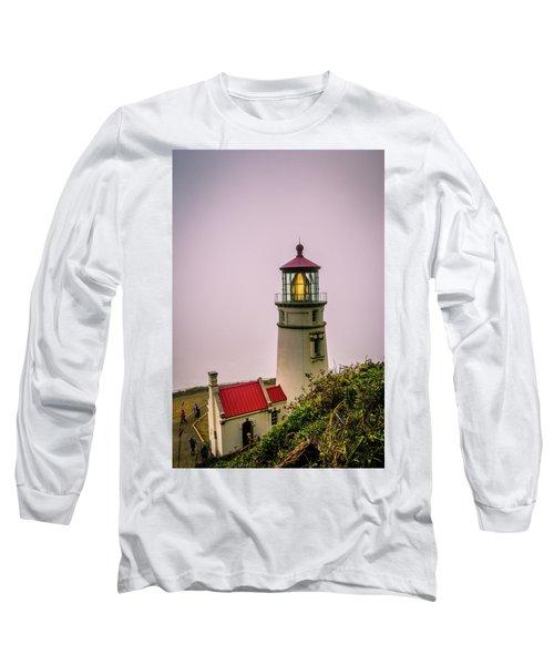 Heceta Head Lighthouse In The Fog Long Sleeve T-Shirt