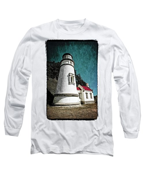 Hecitia Head Lighthouse Long Sleeve T-Shirt by Jeffrey Jensen