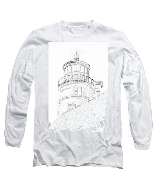 Hecitia Head Lighthouse Sketch Long Sleeve T-Shirt