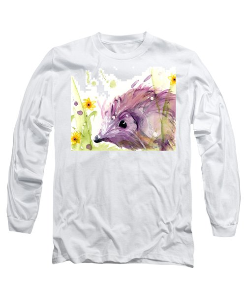 Hedgehog In The Wildflowers Long Sleeve T-Shirt