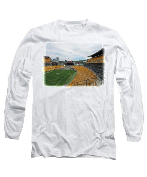 Heinz Stadium With Pittsburgh Skyline Long Sleeve T-Shirt