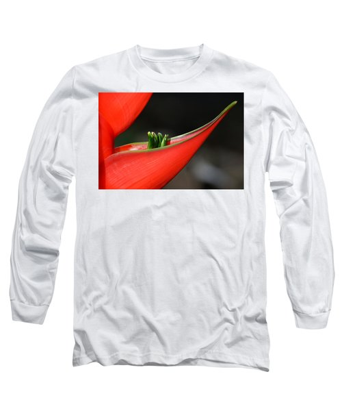 Heliconia Flower Petal Long Sleeve T-Shirt