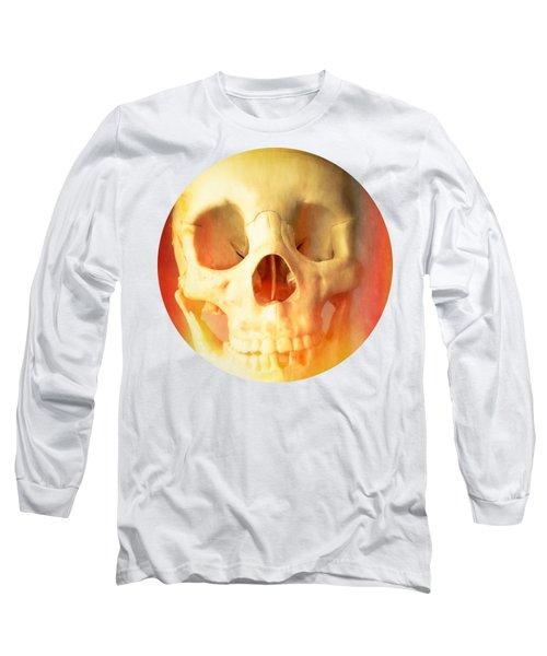 Hell Fire Skull Round Beach Towel Blanket Long Sleeve T-Shirt