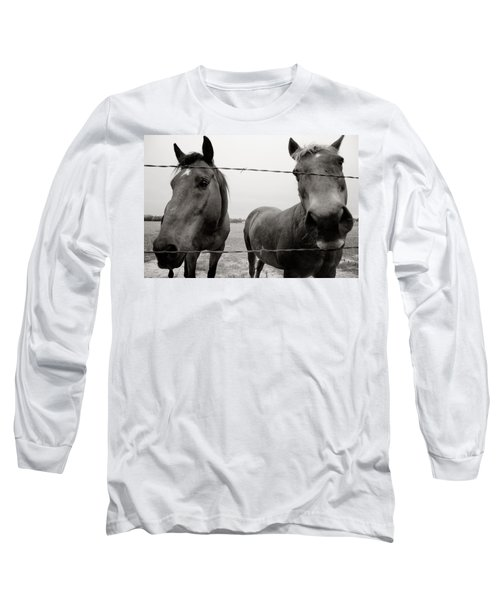 Hello Horses Long Sleeve T-Shirt by Toni Hopper