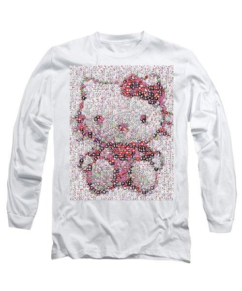 Hello Kitty Button Mosaic Long Sleeve T-Shirt