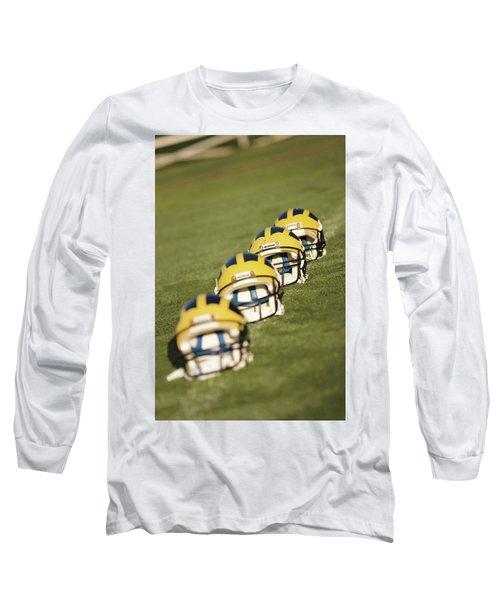 Helmets On Yard Line Long Sleeve T-Shirt