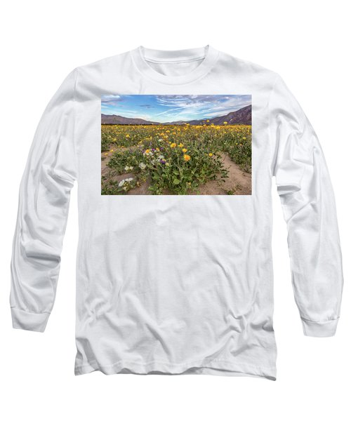 Long Sleeve T-Shirt featuring the photograph Henderson Canyon Super Bloom by Peter Tellone