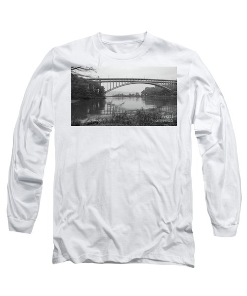 Long Sleeve T-Shirt featuring the photograph Henry Hudson Bridge  by Cole Thompson