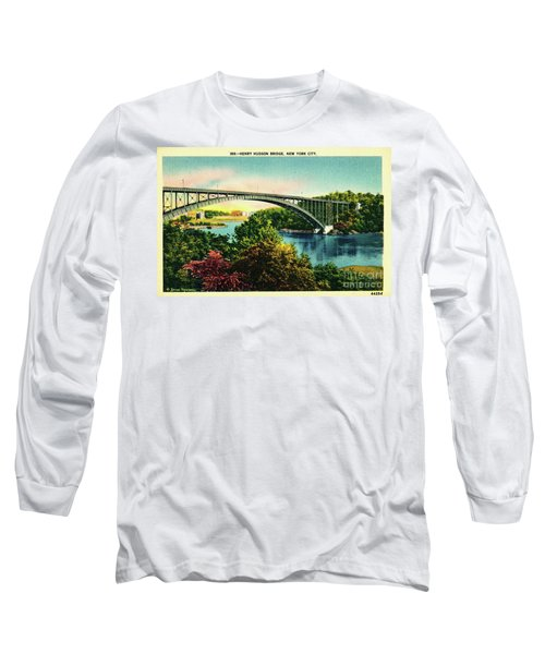 Henry Hudson Bridge Postcard Long Sleeve T-Shirt