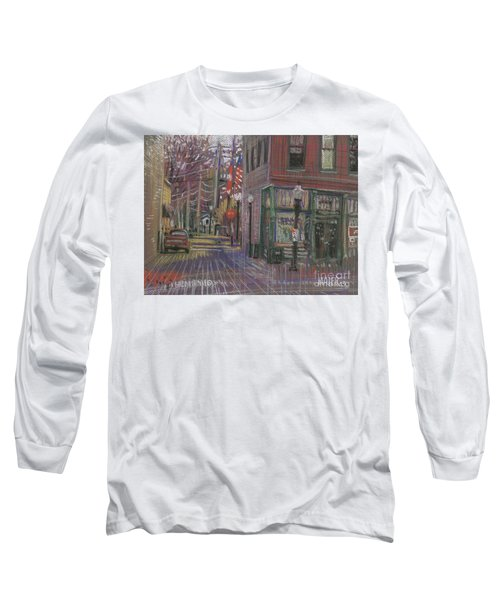 Long Sleeve T-Shirt featuring the painting Henry's by Donald Maier