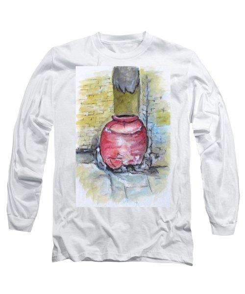 Herculaneum Amphora Pot Long Sleeve T-Shirt by Clyde J Kell
