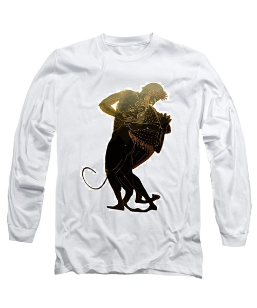 Hercules And The Nemean Lion Long Sleeve T-Shirt