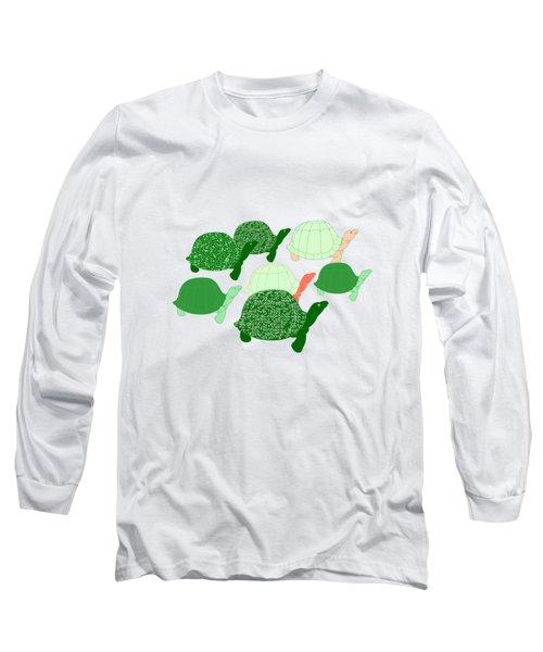 Herd Of Turtles Pattern Long Sleeve T-Shirt
