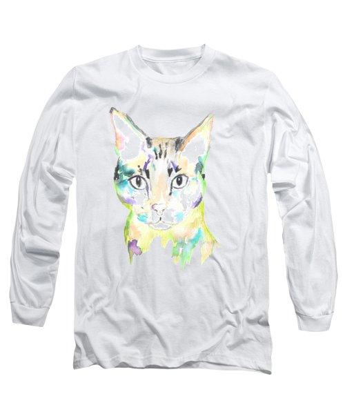 Here Kitty T-shirt Long Sleeve T-Shirt by Herb Strobino