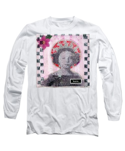 Long Sleeve T-Shirt featuring the mixed media Hero by Desiree Paquette
