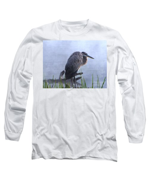 Heron 5 Long Sleeve T-Shirt by Melissa Stoudt