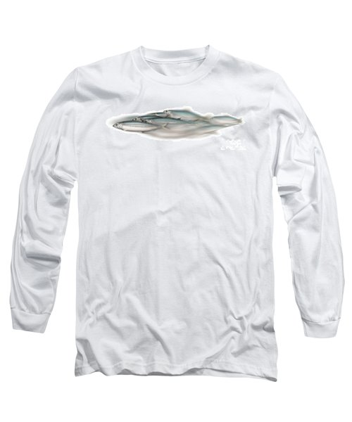 Herring School Of Fish - Clupea - Nautical Art - Seafood Art - Marine Art - Game Fish Long Sleeve T-Shirt