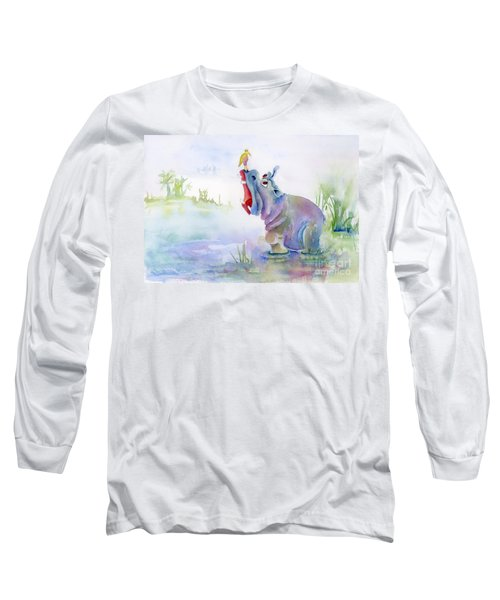 Hey Whats The Big Idea Long Sleeve T-Shirt by Amy Kirkpatrick