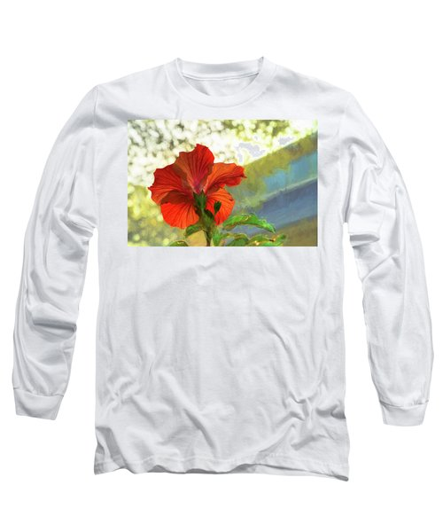 Hibiscus Aglow Long Sleeve T-Shirt