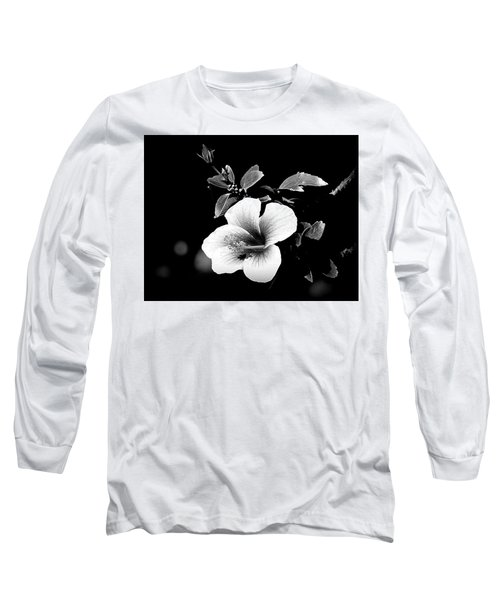 Long Sleeve T-Shirt featuring the photograph Hibiscus In The Dark by Lori Seaman