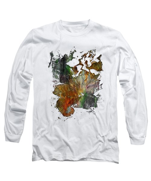 Hibiscus S D Z 2 Muted Rainbow 3 Dimensional Long Sleeve T-Shirt
