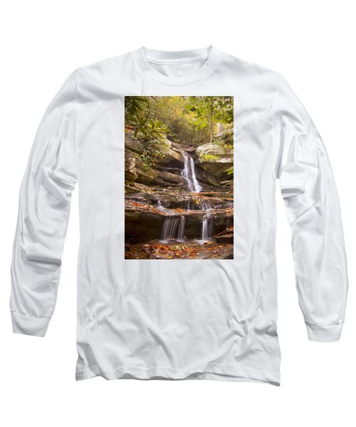 Long Sleeve T-Shirt featuring the photograph Hidden Falls Of Danbury, Nc by Bob Decker