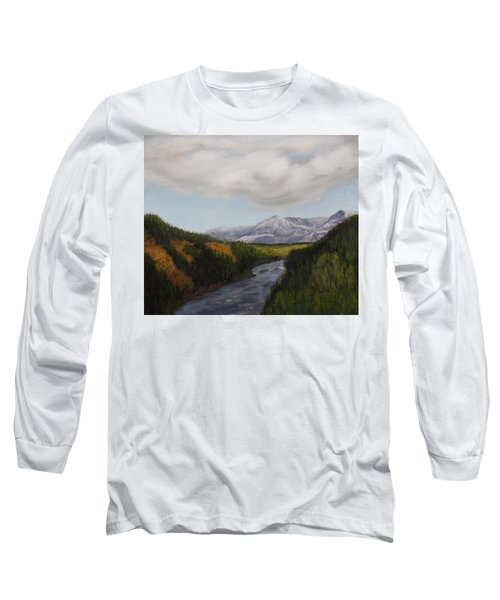Hidden Mountains Long Sleeve T-Shirt by Alan Mager
