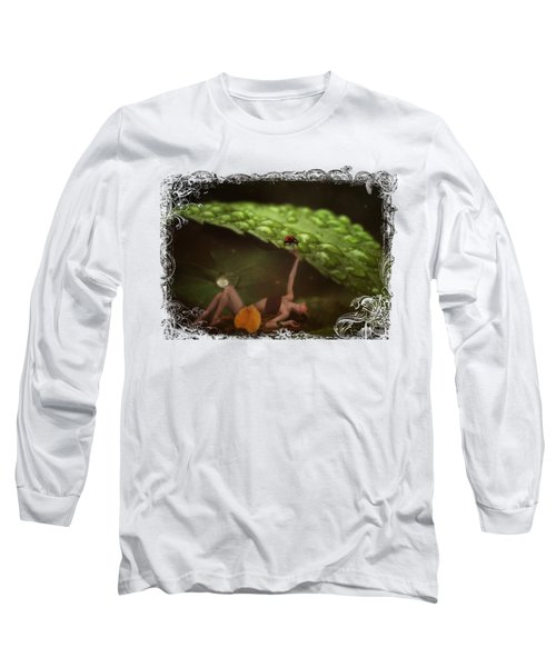 Hiding From The Storm Long Sleeve T-Shirt by Terry Fleckney