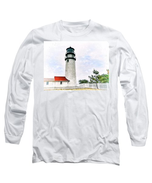 Long Sleeve T-Shirt featuring the photograph Highland Lighthouse Cape Cod by Marianne Campolongo