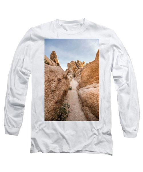 Hiking Trail In Joshua Tree National Park Long Sleeve T-Shirt by Joe Belanger