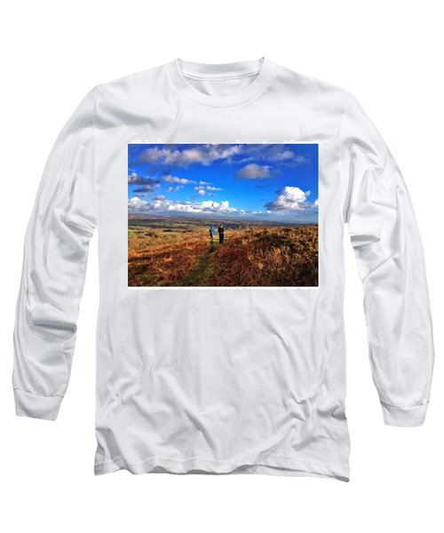Hiking With College  #college #hike Long Sleeve T-Shirt