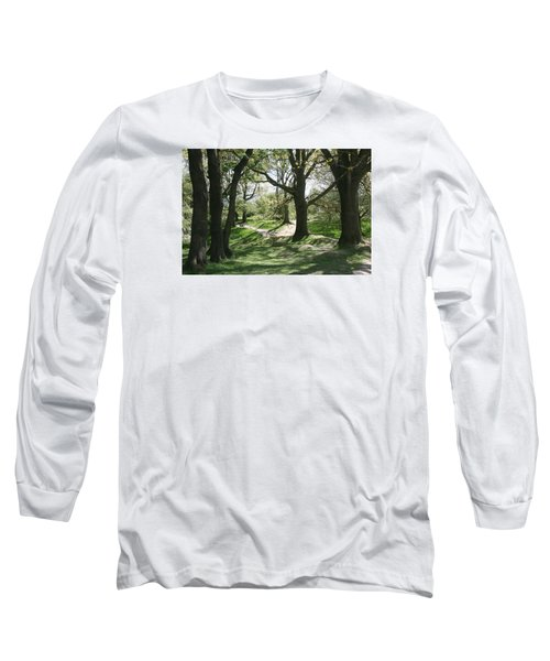 Long Sleeve T-Shirt featuring the photograph Hill 60 Cratered Landscape by Travel Pics