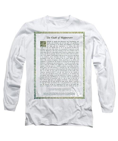 Hippocratic Oath, 1938 Long Sleeve T-Shirt