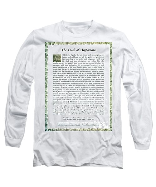 Hippocratic Oath, 1938 Long Sleeve T-Shirt