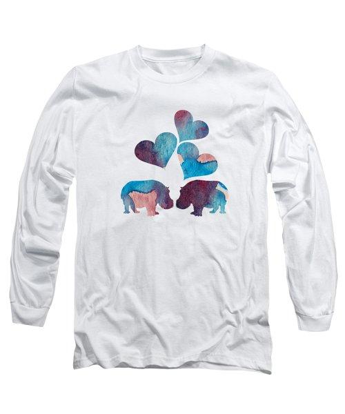 Hippopotamuses Long Sleeve T-Shirt