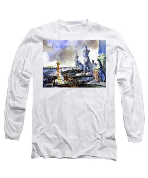 His And Hers Temples Long Sleeve T-Shirt by Randy Sprout