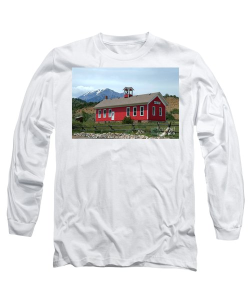 Historic Maysville School In Colorado Long Sleeve T-Shirt by Catherine Sherman