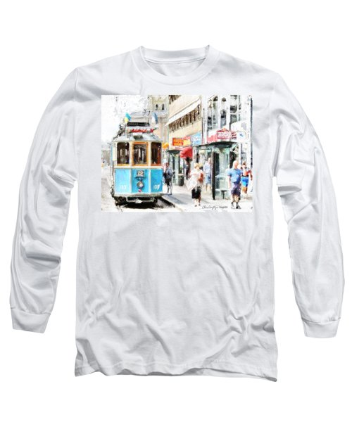 Historic Stockholm Tram Long Sleeve T-Shirt