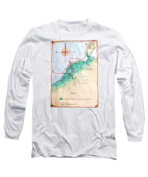 Long Sleeve T-Shirt featuring the painting Magna Frisia- Frisian Kingdom by Annemeet Hasidi- van der Leij