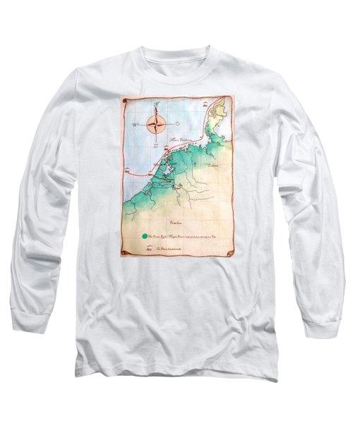 Magna Frisia- Frisian Kingdom Long Sleeve T-Shirt by Annemeet Hasidi- van der Leij