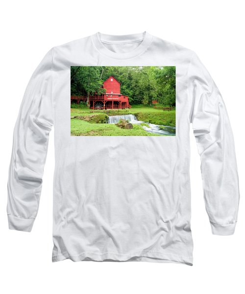 Long Sleeve T-Shirt featuring the photograph Hodgson Water Mill by Cricket Hackmann