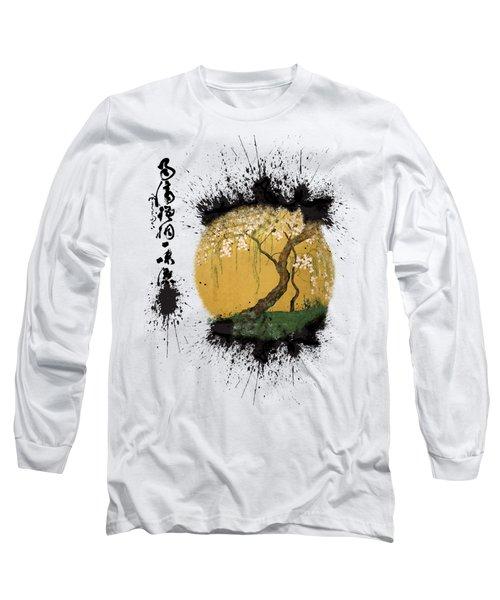 Long Sleeve T-Shirt featuring the painting Hoitsu Tesshu Splatter  by Robert G Kernodle