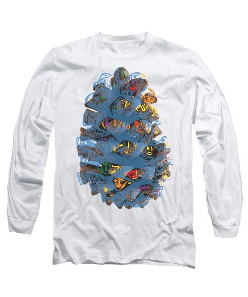 Holiday Blue Cone Long Sleeve T-Shirt