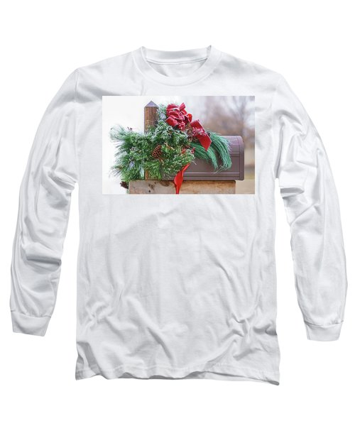 Long Sleeve T-Shirt featuring the photograph Holiday Mail by Nikolyn McDonald