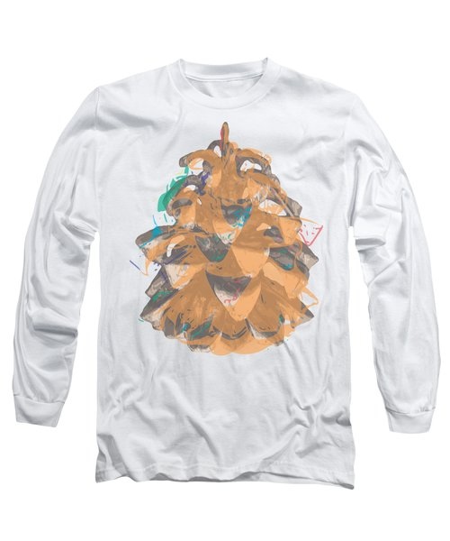 Holiday Yellow Cone Long Sleeve T-Shirt by Stan  Magnan