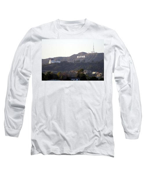 Hollywood Hills And Griffith Observatory Long Sleeve T-Shirt