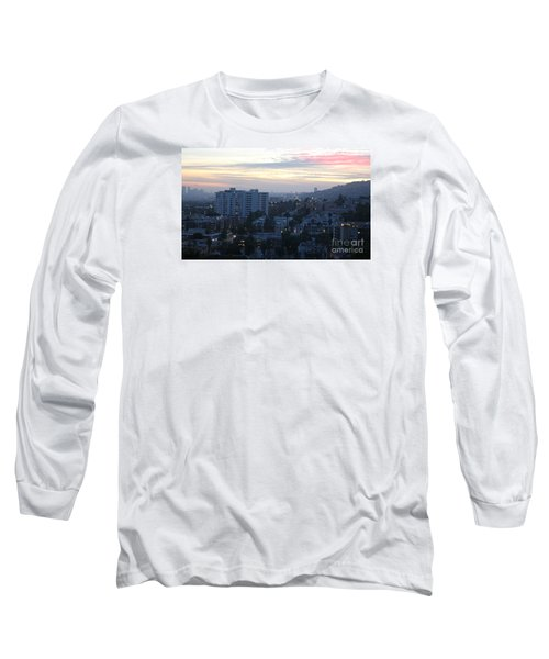 Hollywood Sunset Long Sleeve T-Shirt by Cheryl Del Toro