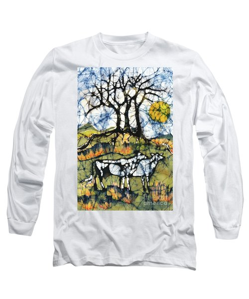 Holsiein Cows Below Autumn Trees Long Sleeve T-Shirt